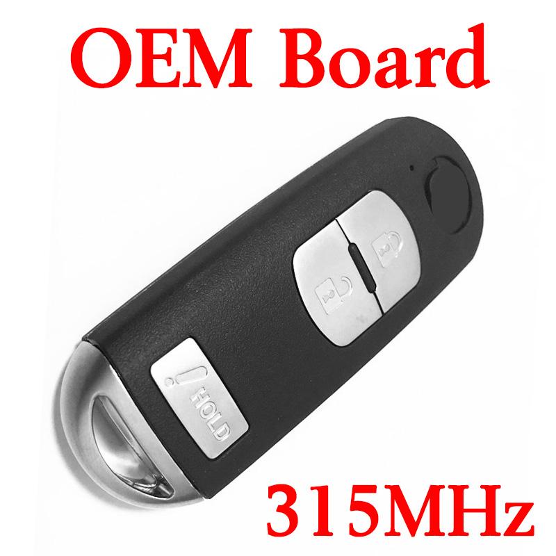 315 MHz 2+1 Buttons Smart Key for CX-3 CX-5 Speed 3 3 6 Miata 2014-2016 - SKE13D01