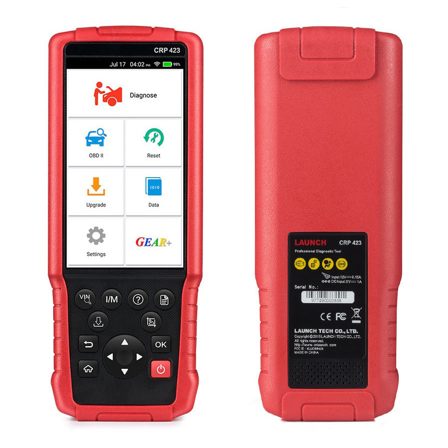 Launch CRP423 Auto Diagnostic Tool - Support ENG ABS SRS AT - Multi-launguage