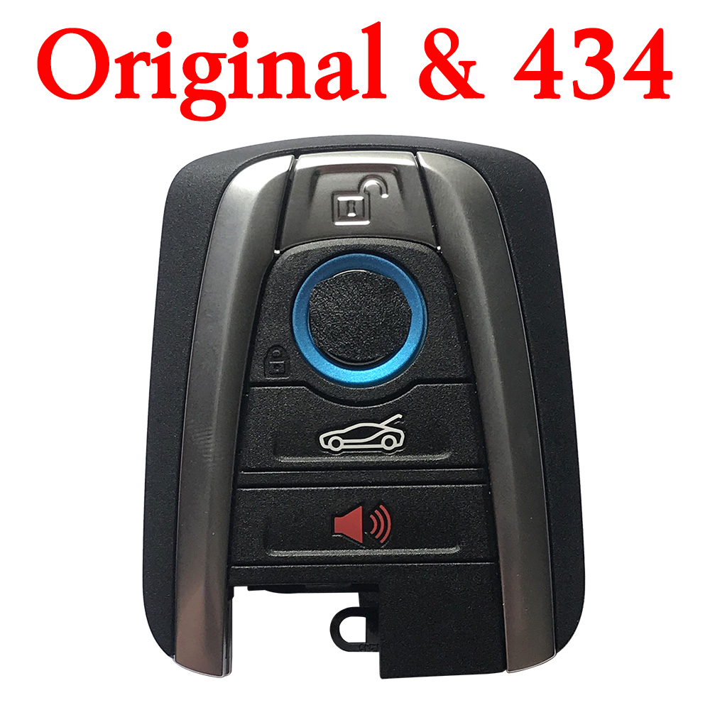 Original 434 MHz Smart Proximity Key for 2015-2017 BMW i3 / i8 / - CAS4+ FEM with Panic Button