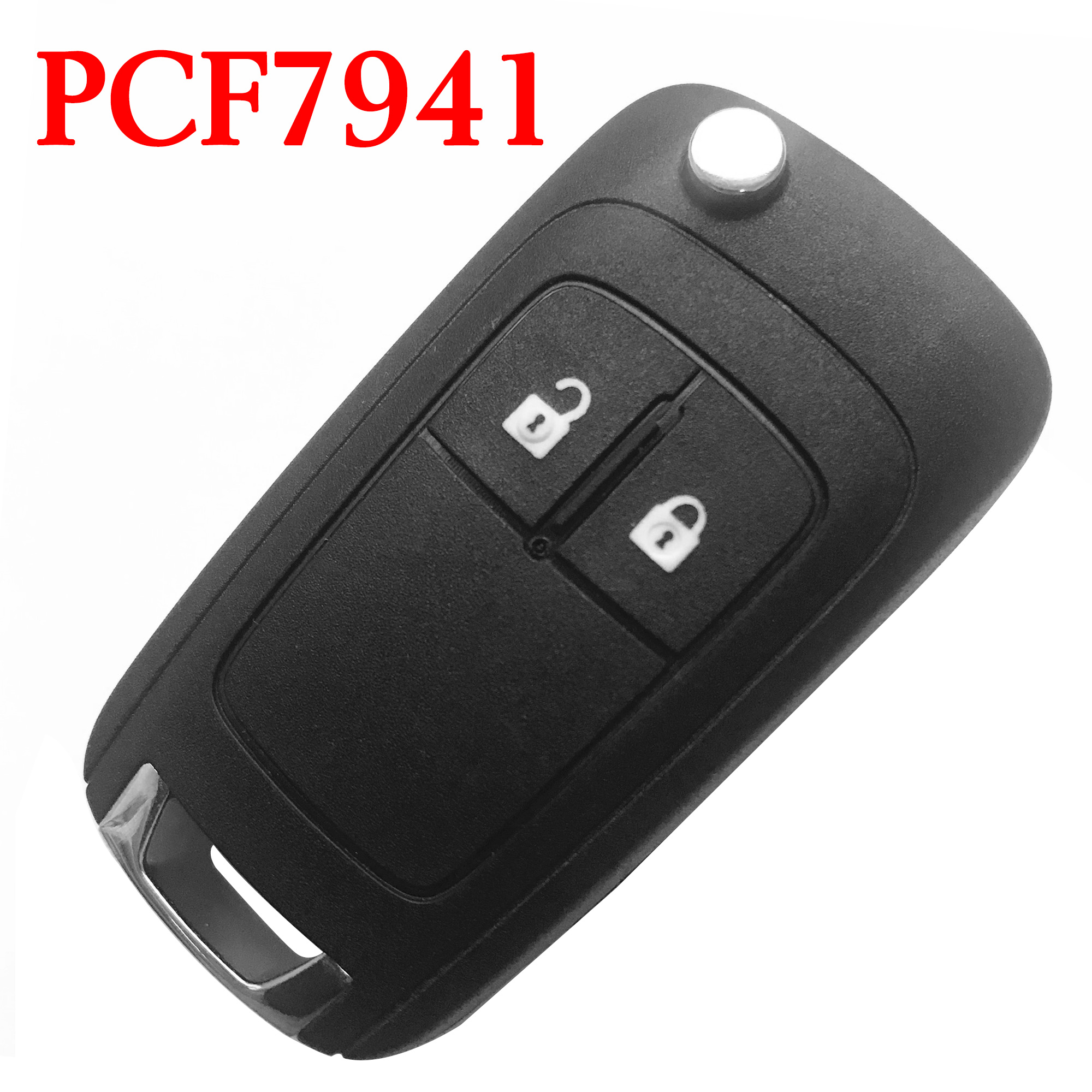 2 Buttons 434 MHz Flip Remote Key for Opel Astra H & Zafira B - PCF7941