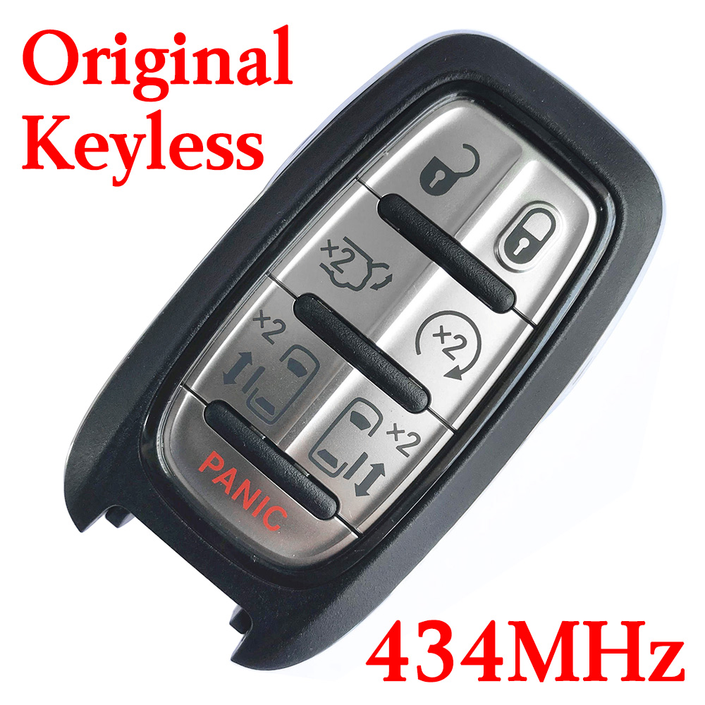Original 434 MHz 6+1 Buttons Virgin Smart Proximity Key for Chrysler - 4A Chip