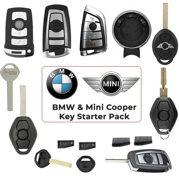 BMW / Mini Cooper Keys-Complete Starter Pack (ALL YEARS)-for VVDI2 / IM608 / ACDP