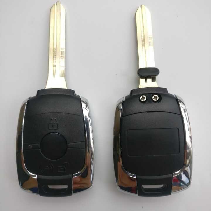 3 Button Remote Key Shell for SsangYong Rexton Chrome (5pcs)