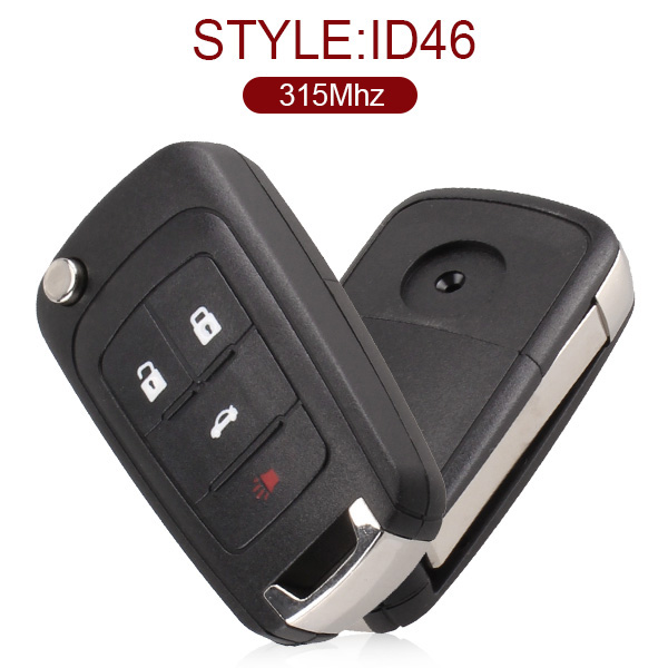 for Buick 4 Button Flip Remote Key 315 MHz ID46