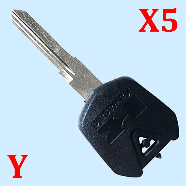 Key Shell for Kawasaki Black color  - Pack of 5