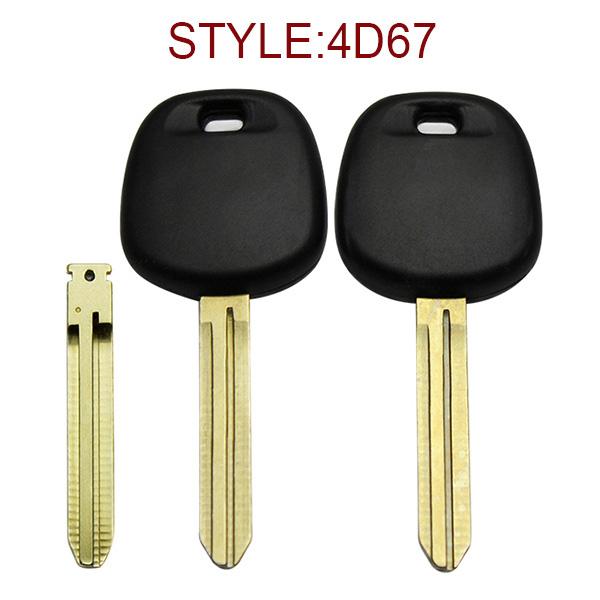 for Toyota 4D67 Transponder Key No Logo