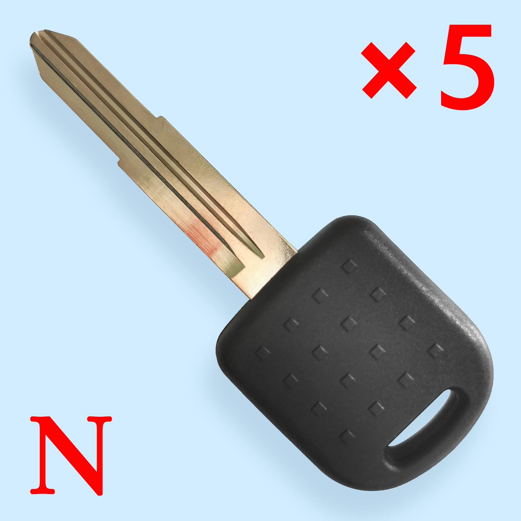Transponder Key Shell Left for Suzuki - Pack of 5