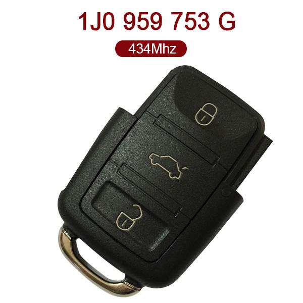 AK001074 for VW Flip Key 3 Button 434MHz 1J0 959 753 G