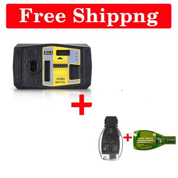 Xhorse VVDI MB BGA Tool + 9 Pcs VVDI BE Key Pro + 9 Pcs Benz Smart Key Shell 3-button