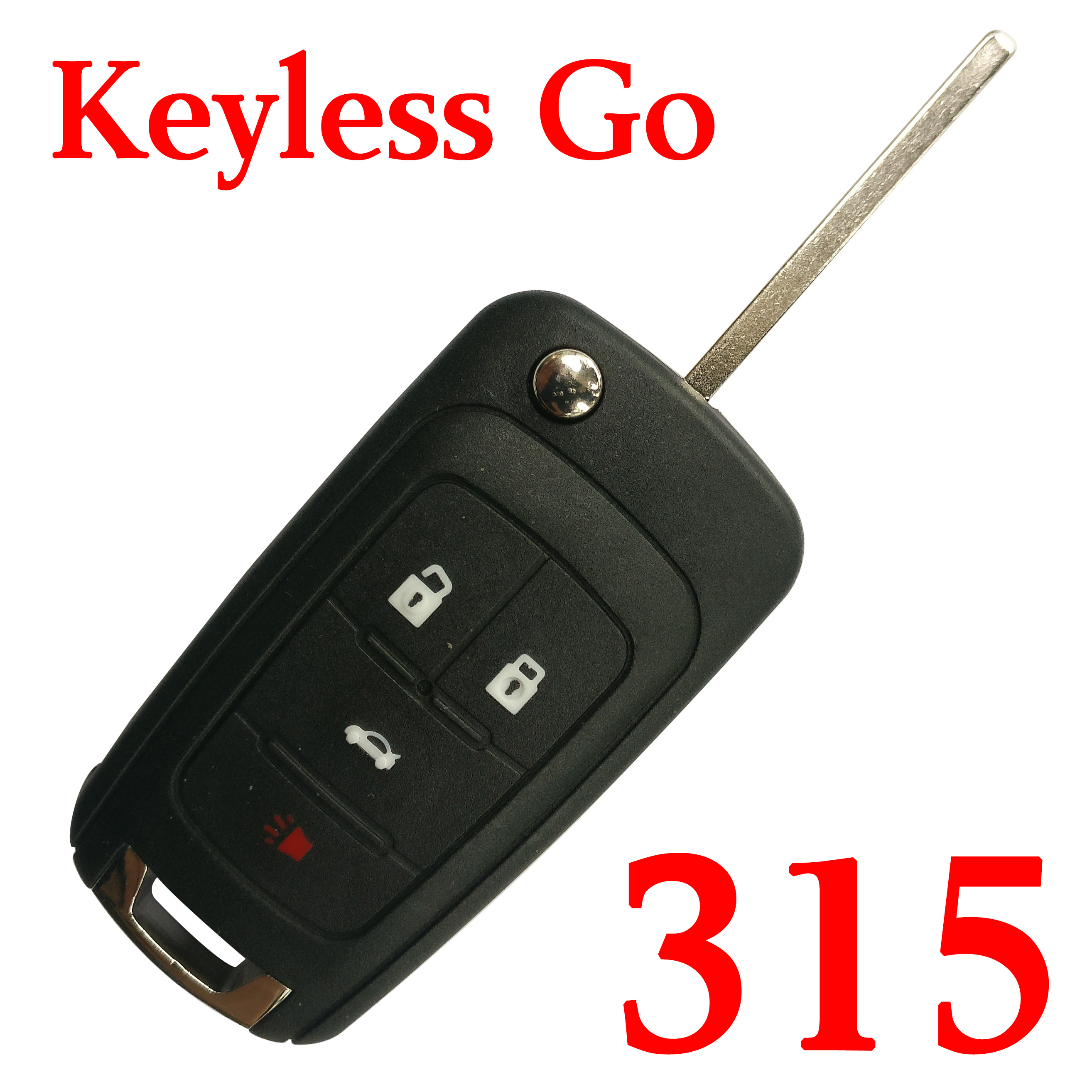 4 Buttons 315 Mhz Flip Smart Proximity Key for Buick with Logo