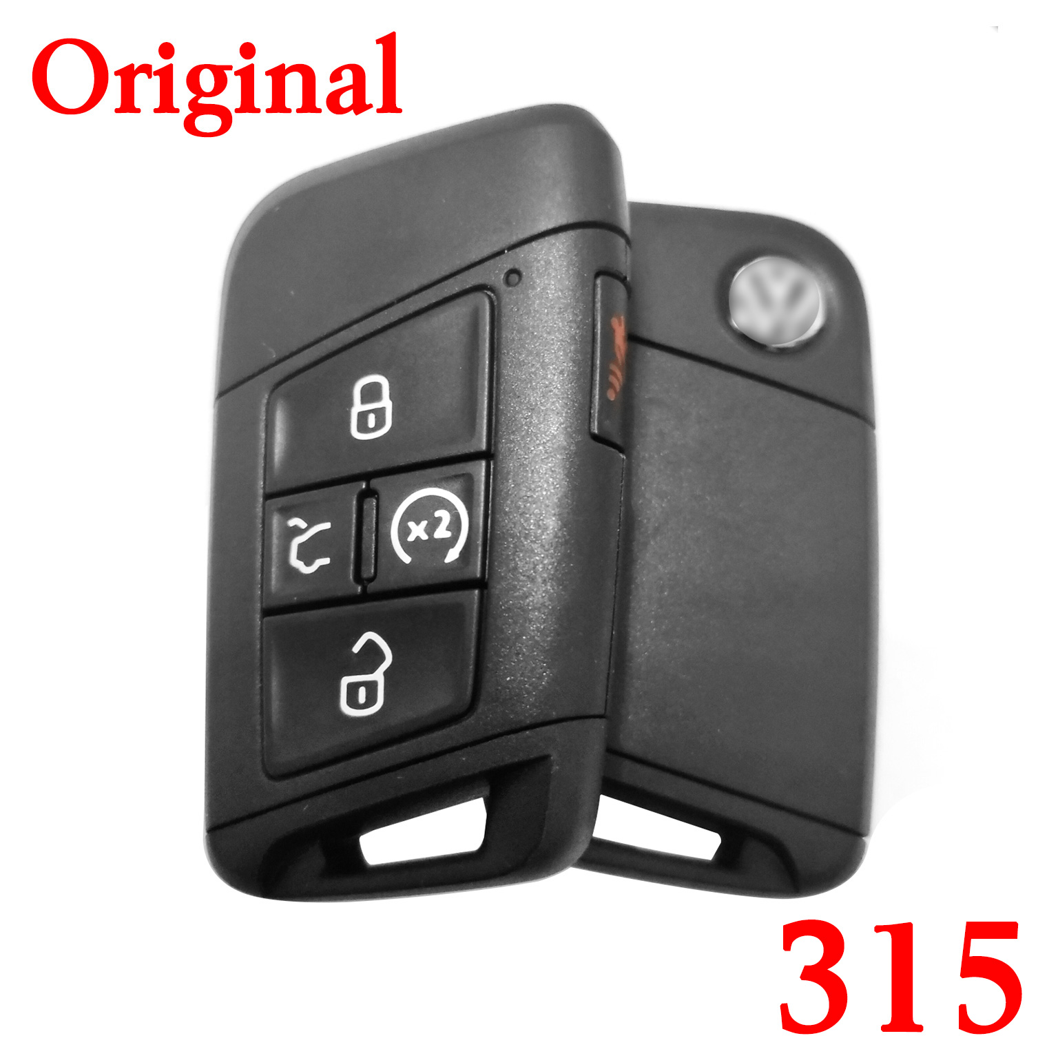 Original 4+1 Buttons 315 MHz MQB Flip Remote Key for VW with  keyless go Functions