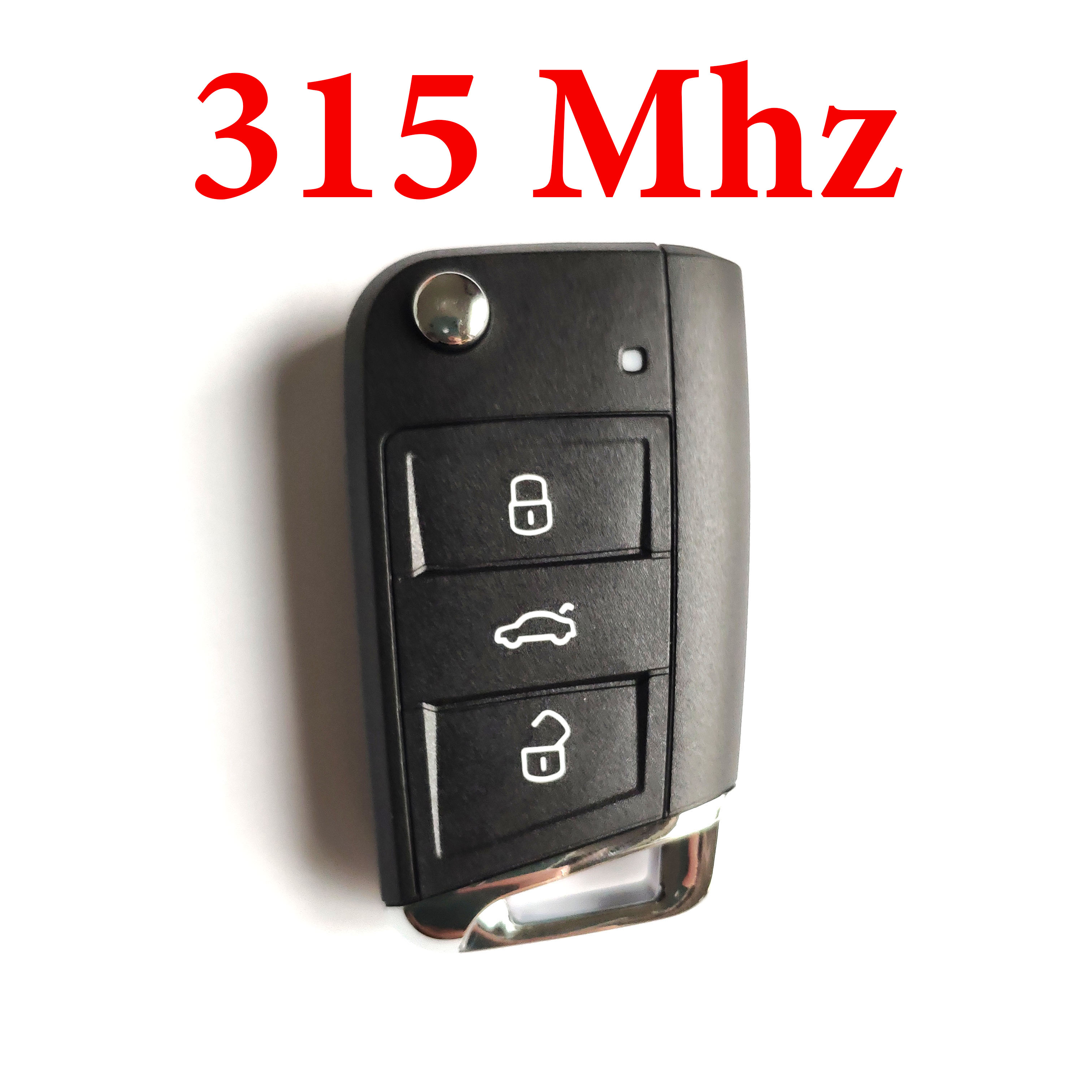 3 Buttons 315 MHz Remote Key For VW with ID 48 Chip