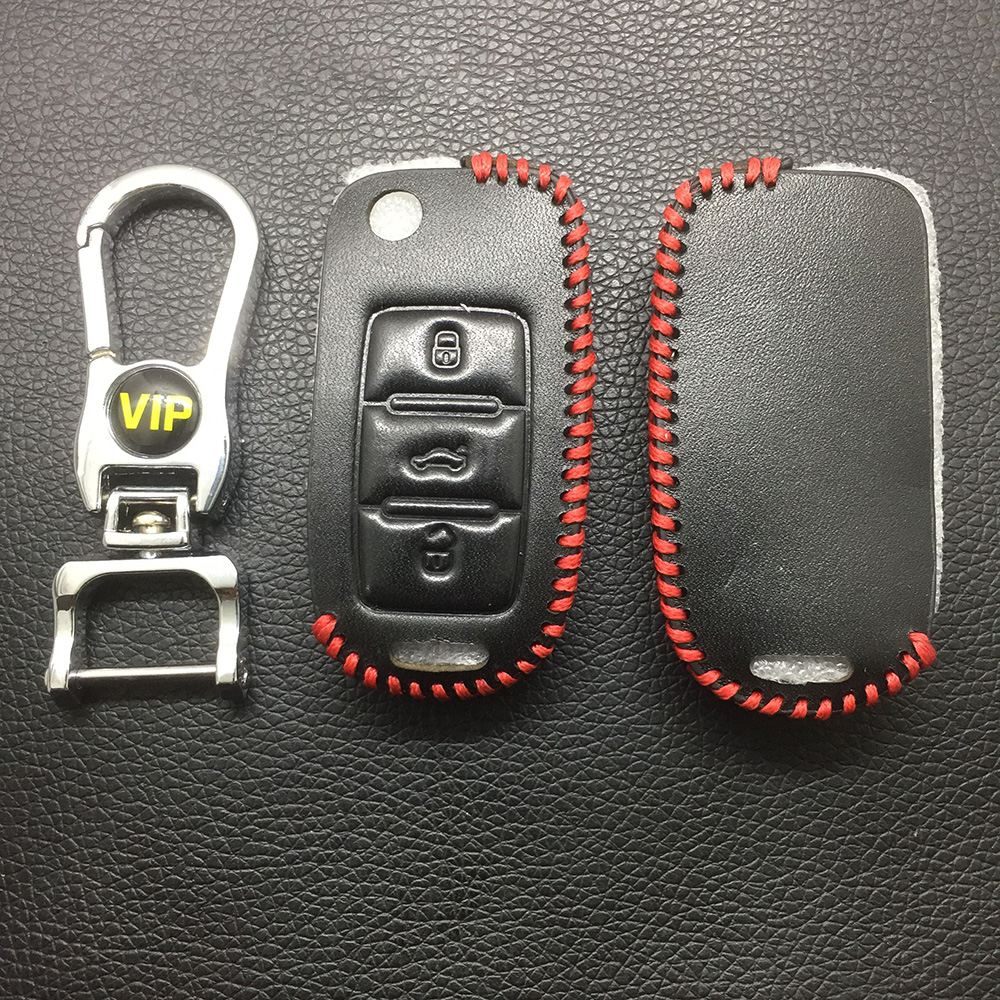 Leather Case for B5 Remote Controls Folding Car Key - 5 Sets