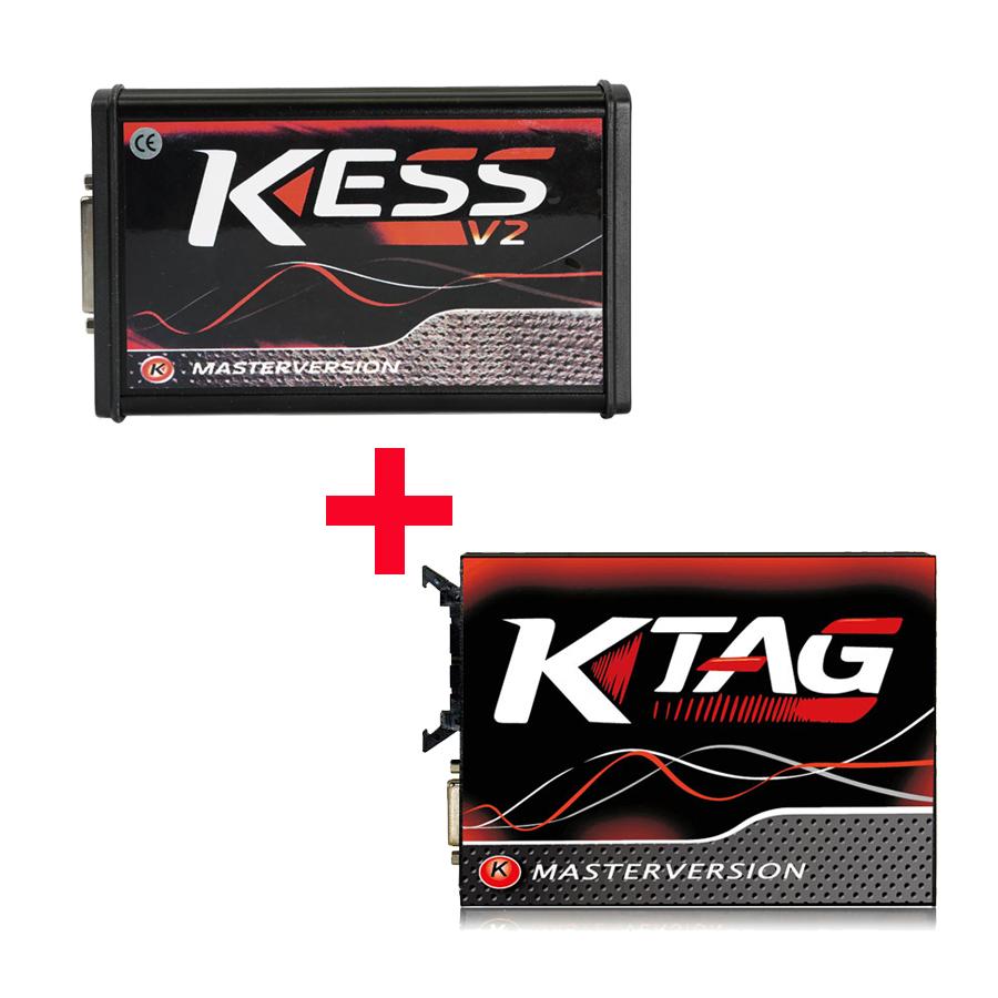 Top Quality Latest Version Kess V2 V5.017 Red PCB Online Version + V2.23 Plus Ktag 7.020 V2.23 Red PCB EURO Online Version