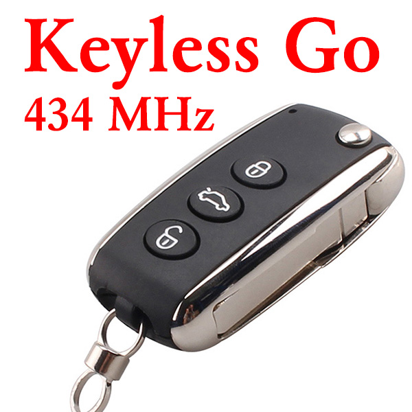 3 Buttons 434 MHz Smart Proximity Key for Bentley - PCF7943 With Keyless Go