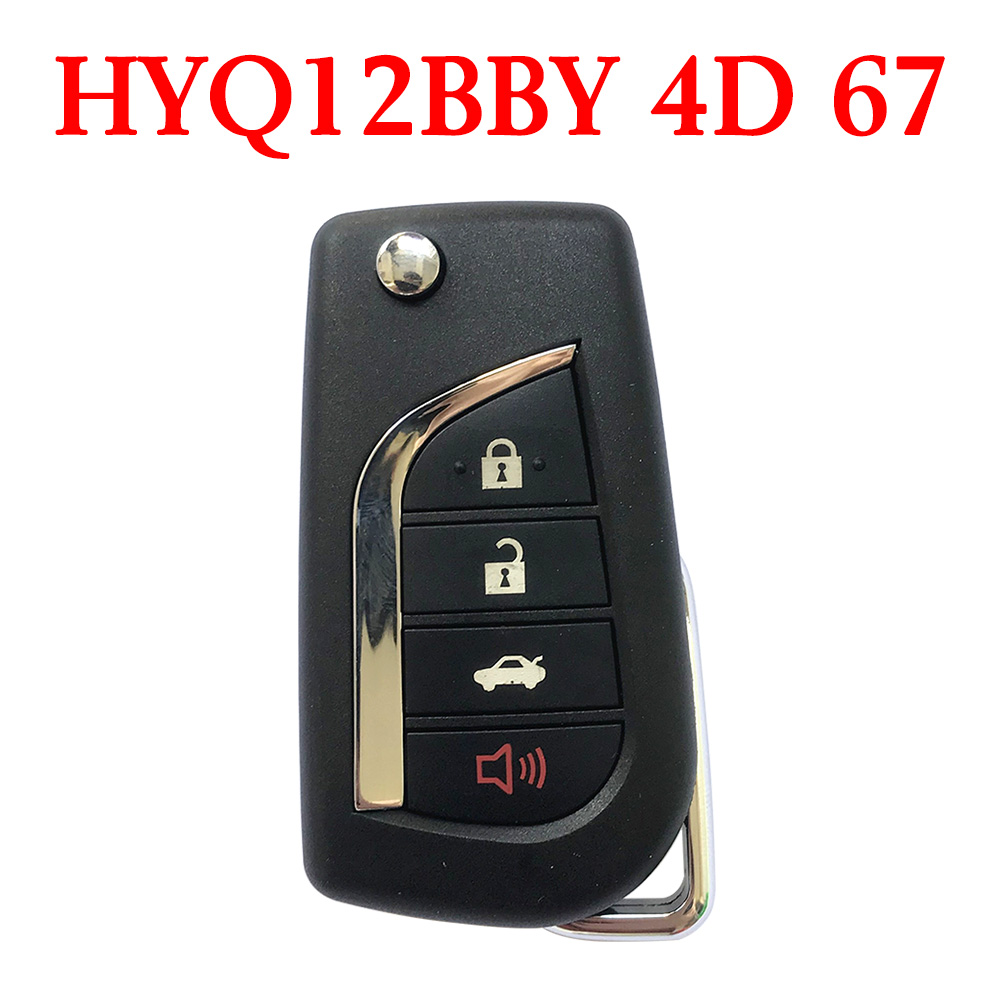 3+1 Buttons 315 MHz Flip Remote Key for Toyota 2006-2012 - HYQ12BBY ( 4D 67 Chip )