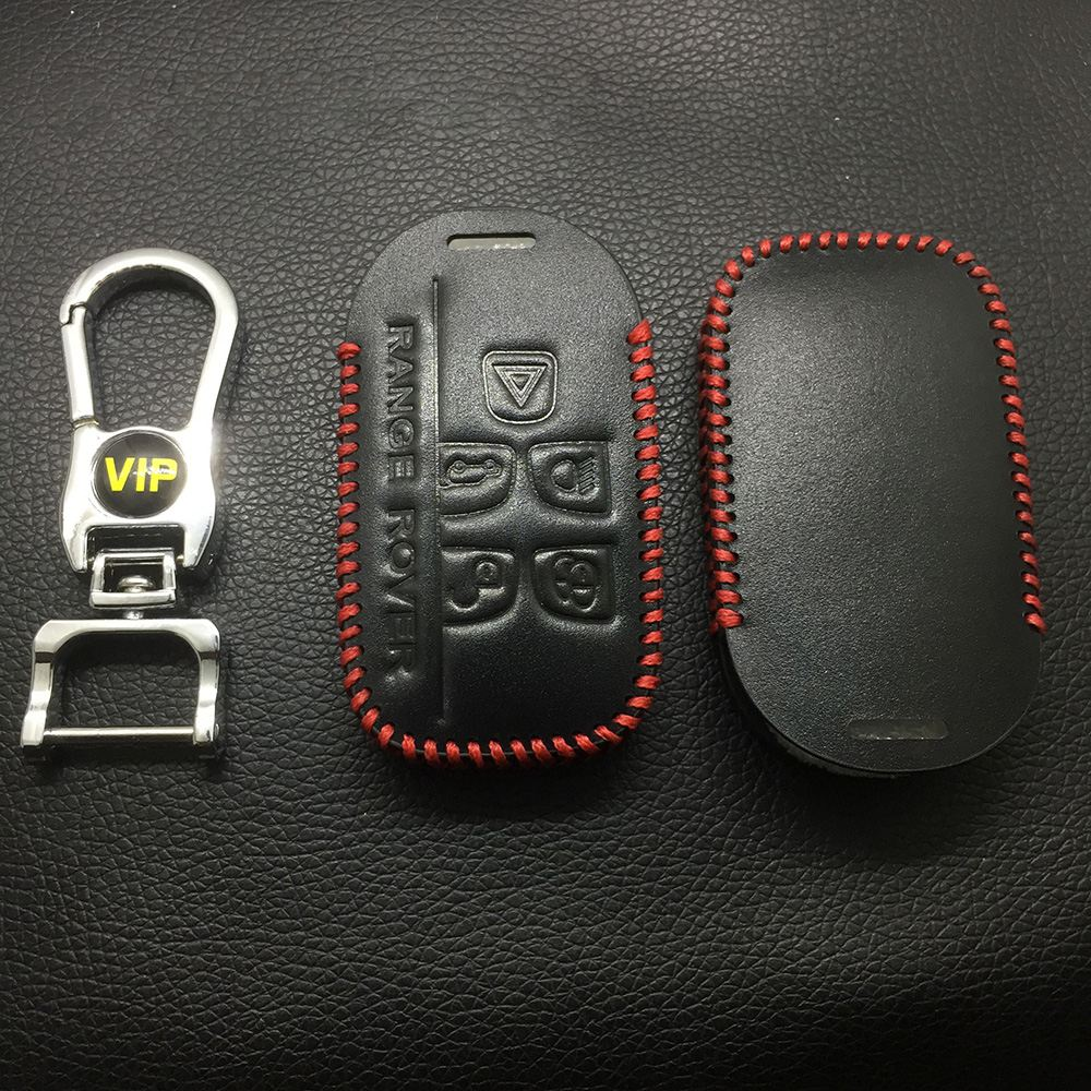 Leather Case for Land Rover 5 Buttons Smart Card Car Key - 5 Sets