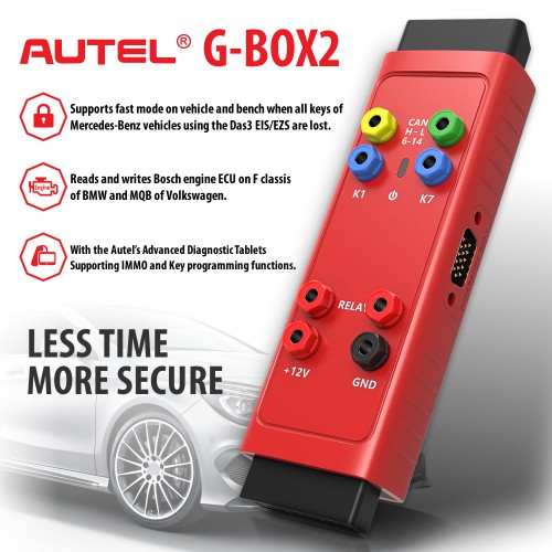 Original Autel G-BOX2 Tool for Mercedes Benz All Key Lost Work with Autel MaxiIM IM608 IM508