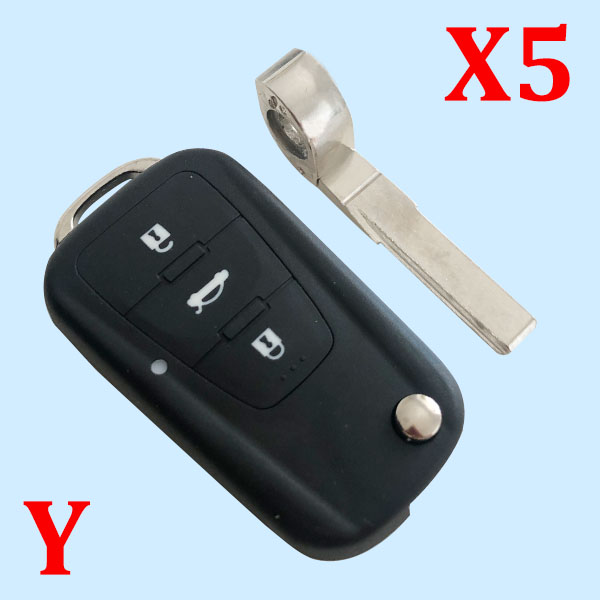 3 Buttons Remote Key Shell For Morris Garages MG - 5pcs