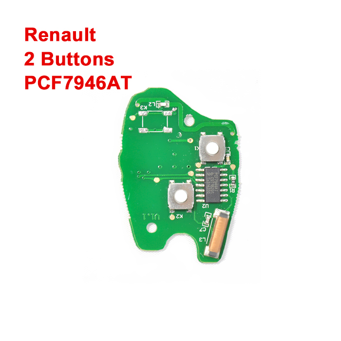 2 Buttons 434 MHz PCB Board for Renault Remote Keys with PCF7946AT chip
