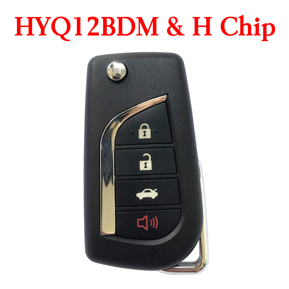 3+1 Buttons 315 MHz Flip Remote Key for Toyota Camry Corolla Camry 2014-2017 with H Chip - HYQ12BDM