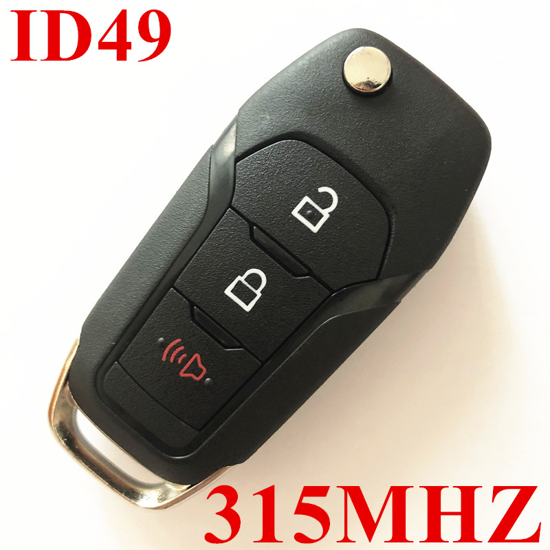 3 Buttons 315 MHz  Flip Remote Key for Ford ID49