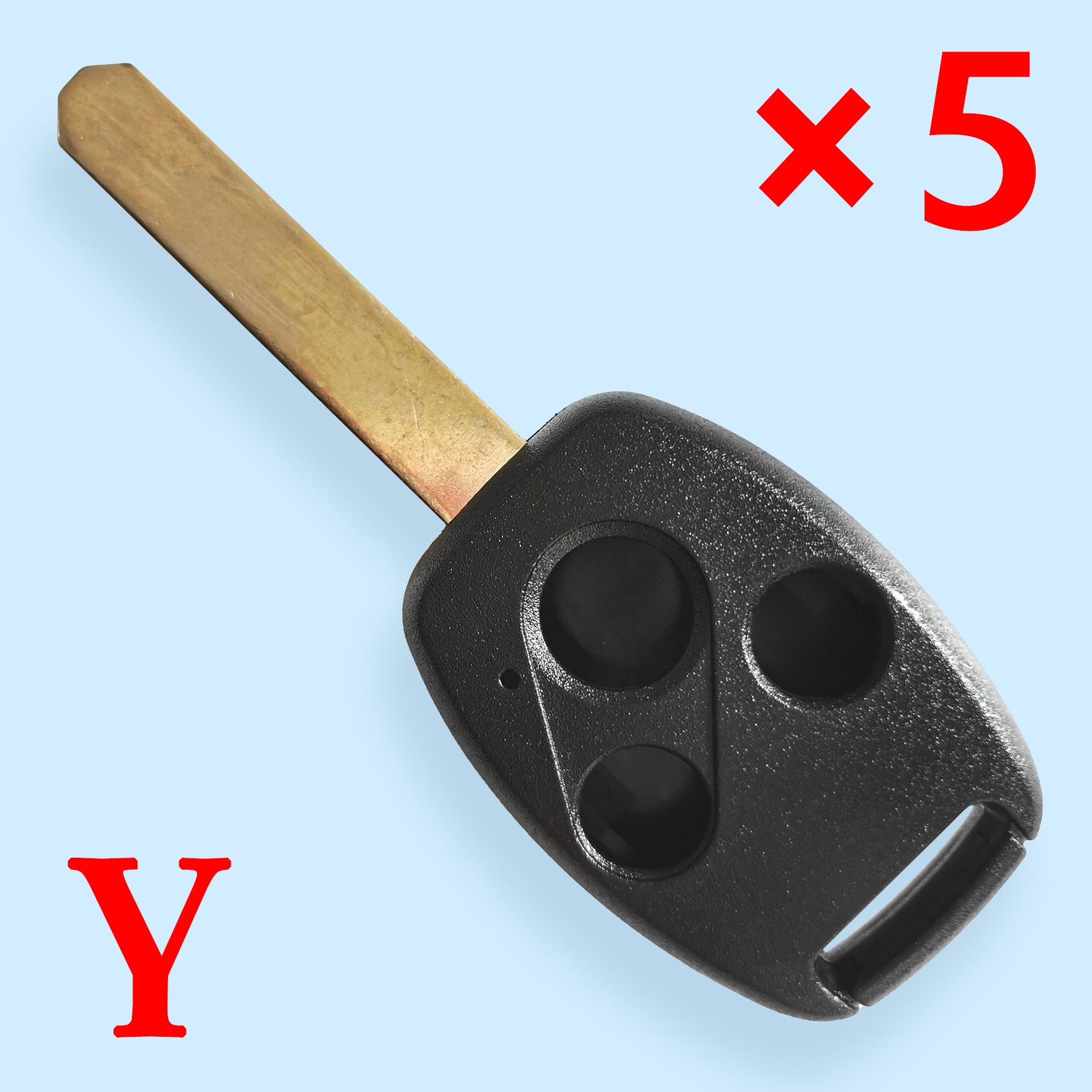 3 Button Key Shell for Honda 5 pcs