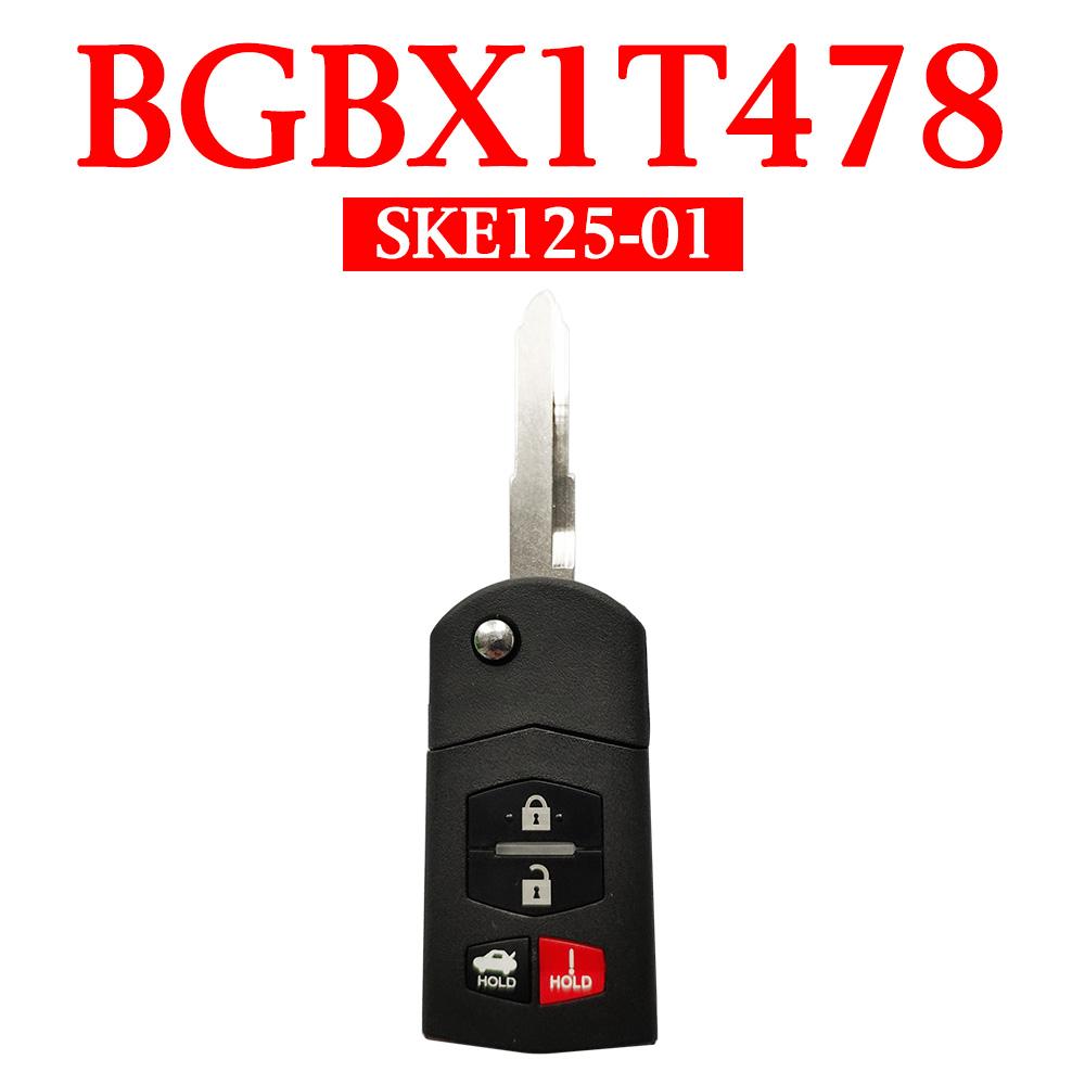 3+1 Buttons 315 MHz Flip Remote Key for Mazda 3 / 6 / MX-5/ 2006-2016 - BGBX1T478 SKE125-01