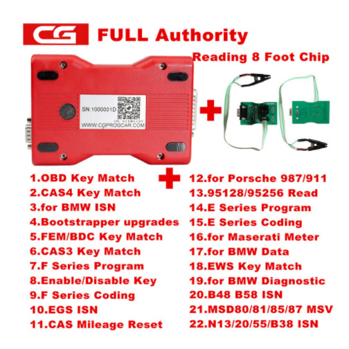 Full Version CGDI Prog for BMW MSV80 Auto key programmer Diagnosis tool IMMO Security 3 in 1 Add for BMW FEM/EDC Function
