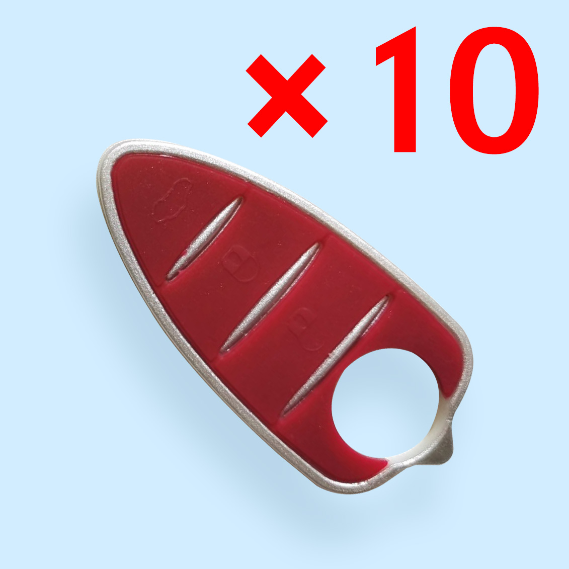 3 Buttons Rubber Pad for Alfa Remeo - 10 pcs
