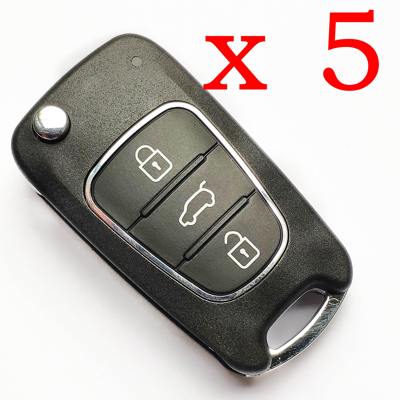 5 pieces Xhorse VVDI Hyundai Type 3 Universal Remote Control - with Blades & Logos