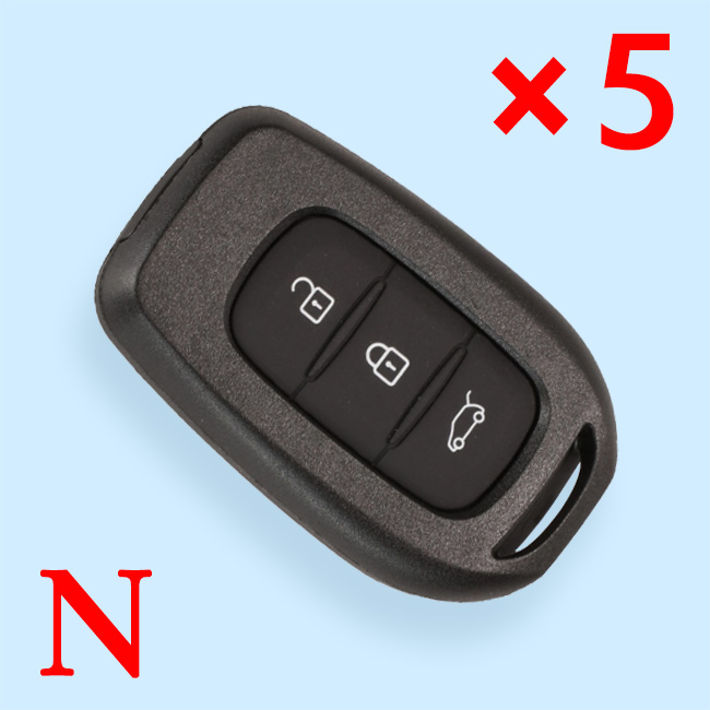 3 Buttons Remote Key Shell for Renault - Pack of 5
