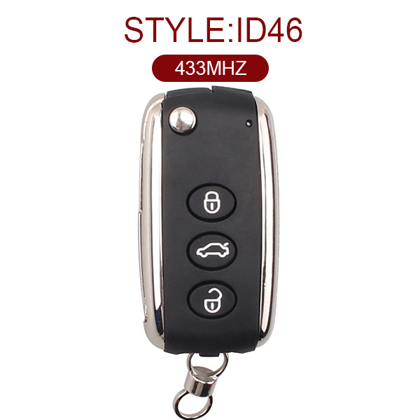 Top Quality 3 Buttons Flip Key Shell for Bentley
