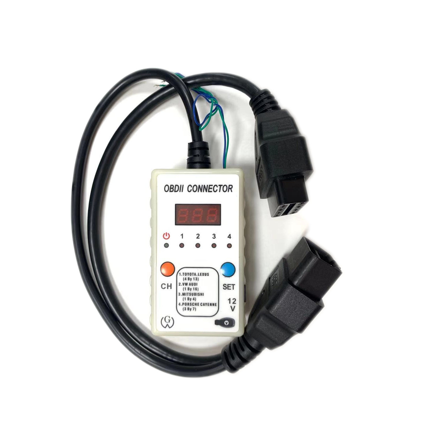 OBD II Voltage Detector &  OBDII Connector For Toyota ECU /Mitsubishi Remote programming/ Audi A6L /Porsche