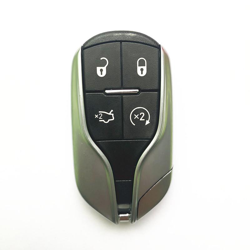 Original 4 Buttons 433 MHz Smart Proximity Key for 2014-2016 Maserati Ghibli / Quattroporte / 4-Button Smart Key w/ Remote Start / PN: 5923336 / M3N-7393490 (OEM)