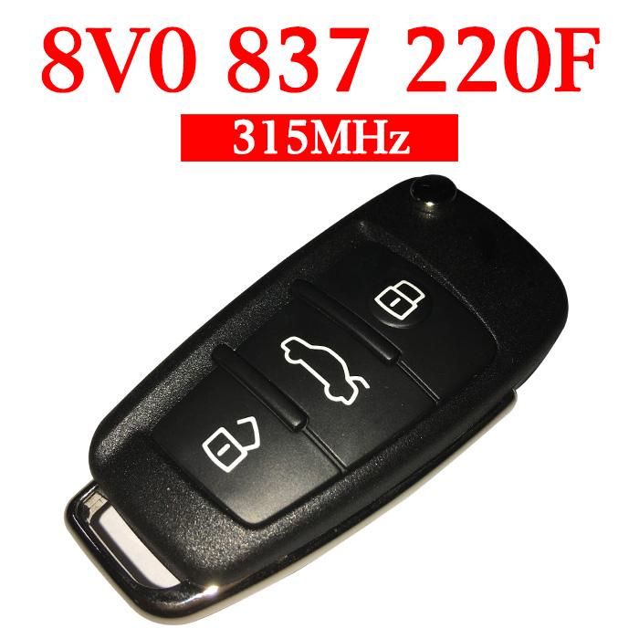 Original 315 MHz Smart Proximity Key for Audi A1 A3 - 8V0 837 220F