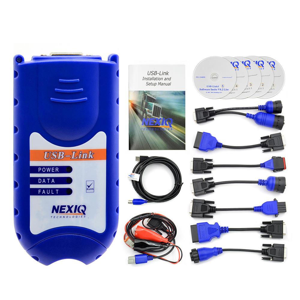 2020 NEXIQ Auto Heavy Duty Truck Scanner Tool NEXIQ USB Link Nexiq 125032 USB Link NEXIQ2 USB/Bluetooth