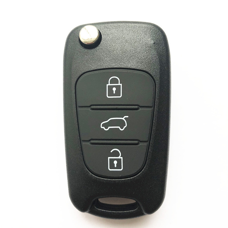 3 Button Flip Remote Key Shell Big Trunk TOY48 Laser Blade for KIA (5pcs)
