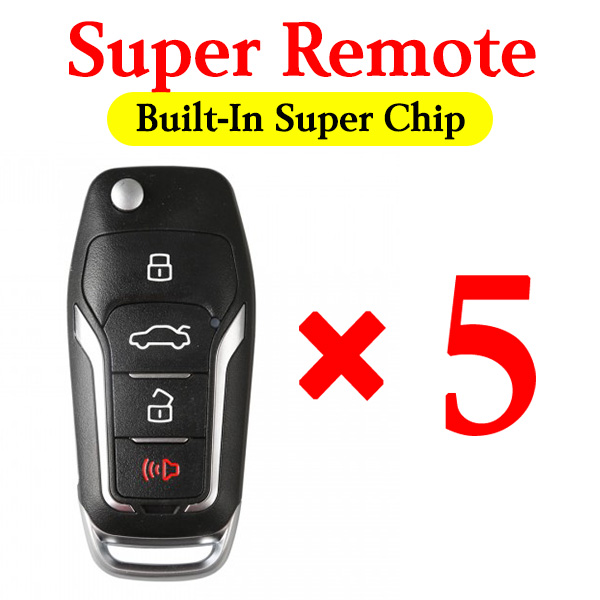 Xhorse Super Remote Ford Style Comes with Built-In Super Chip -  5 pcs / pack