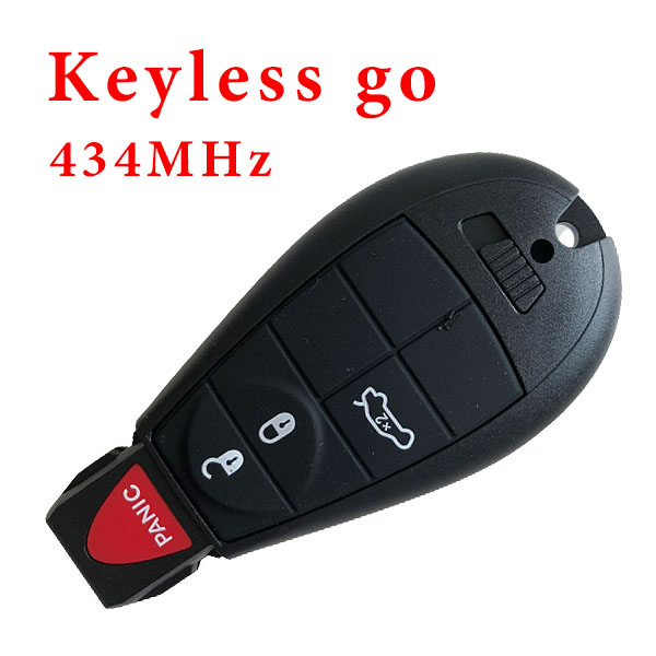 434 MHz 3+1 Buttons Smart Proximity Keyless Go Key for Chrysler / Dodge - with PCF7952 ID46 Chip
