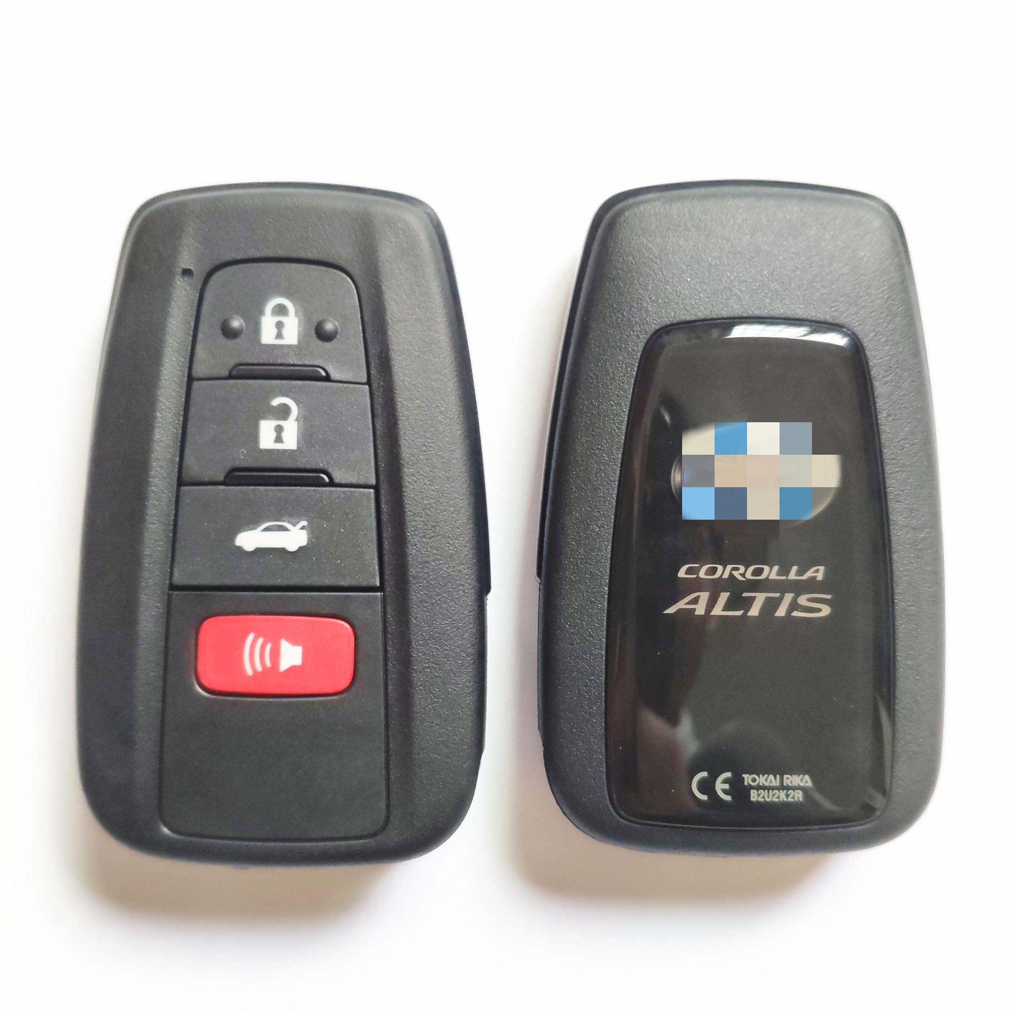 Original 3+1 Buttons 434 MHz Smart Key for Toyota Corolla Altis - TOKAI RIKA B2U2K2R - 61E466-0010