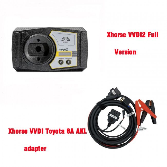 V7.0.2 Xhorse VVDI2 Full Version + VVDI Toyota 8A All Keys Lost Adapter