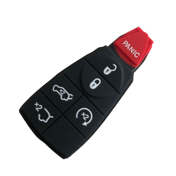 6 Buttons Modern Fobic Remote Shell with 2 Yrunk for Dodge - Pack of 10