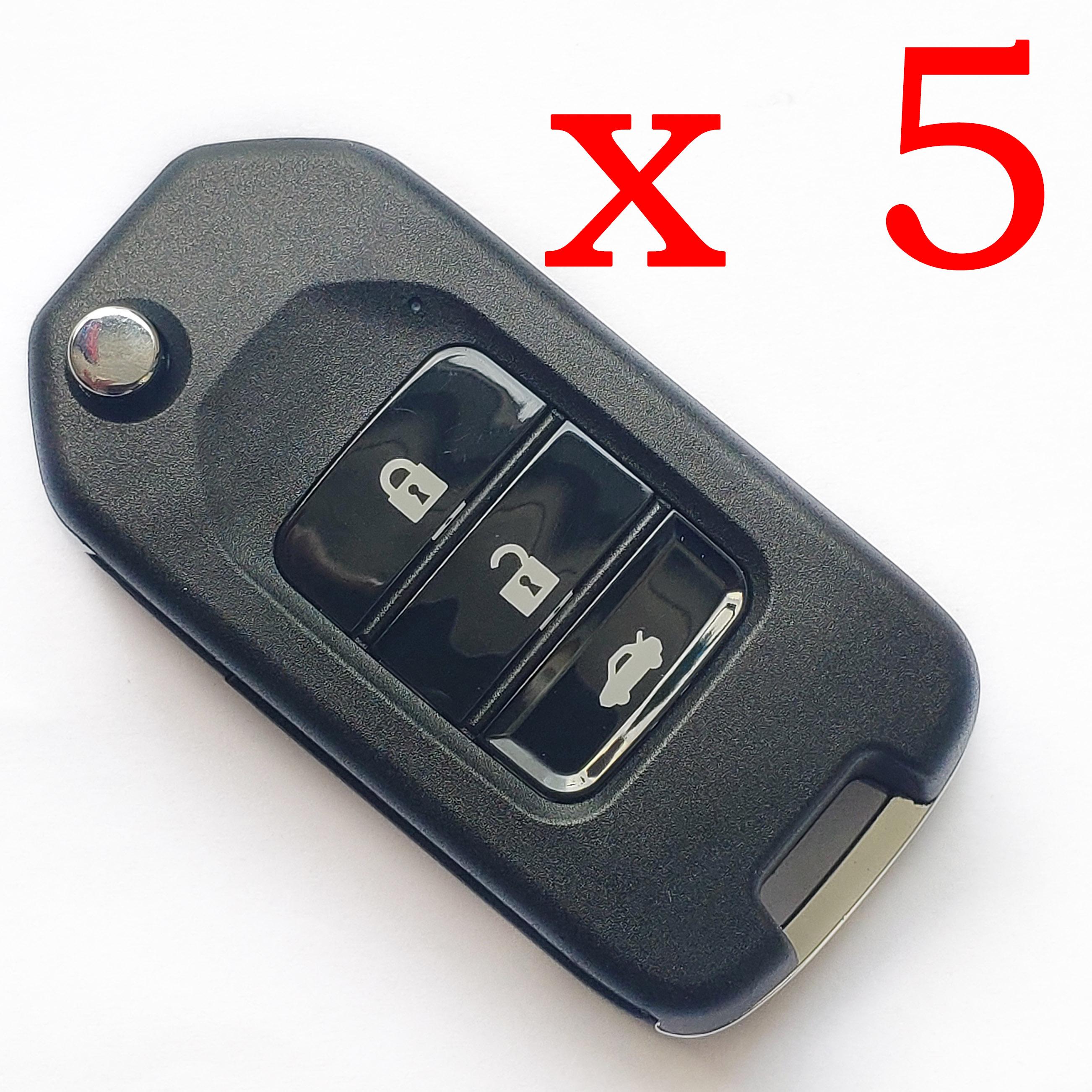 5 pieces Xhorse VVDI Honda Type Universal Remote Control - XKHO00EN