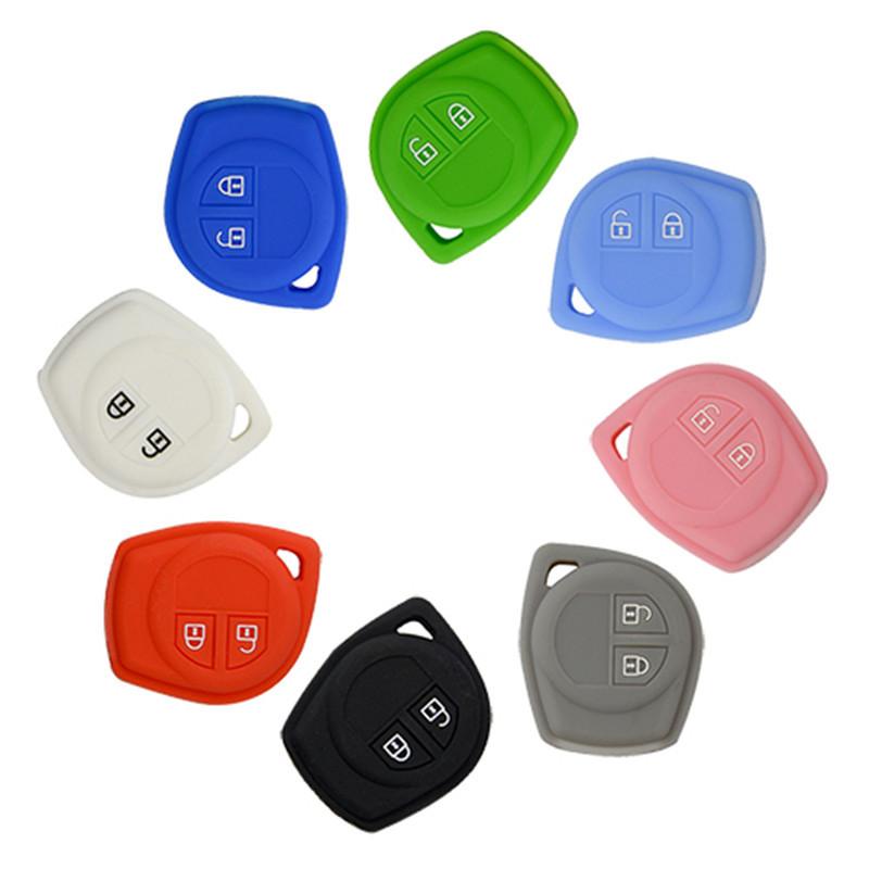 Silicone Cover for Suzuki New Swift, Alto, Jimny, Alivio, Tengo SX4 Car Keys - 5 Pieces