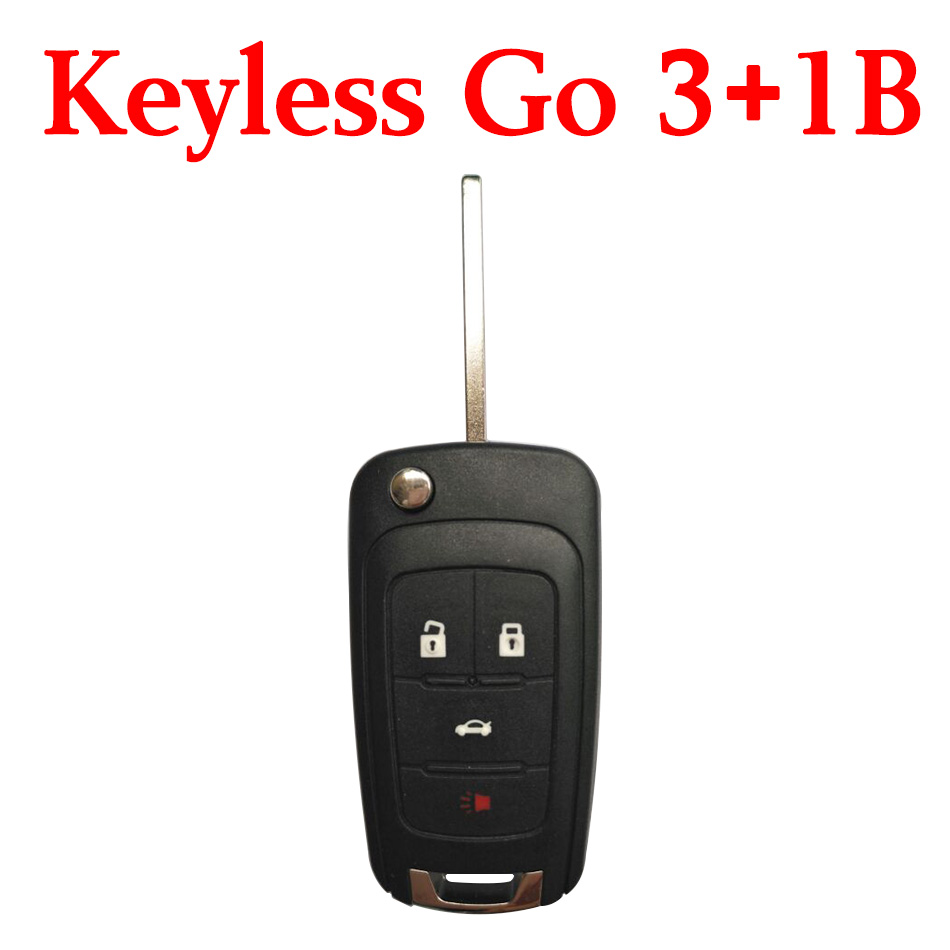 3+1 Buttons 315 Mhz Flip Smart Proximity Key for Buick with Logo