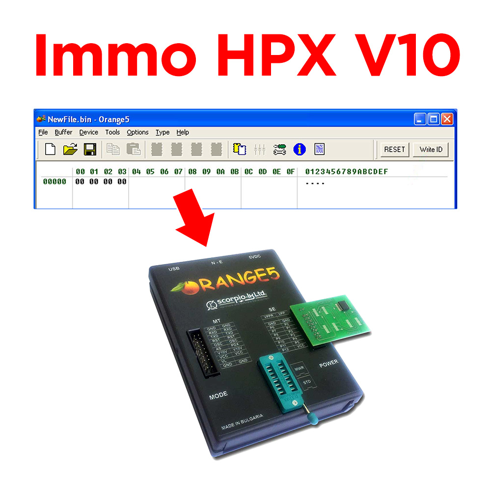 Immo HPX V10 Software License for Original Orange5