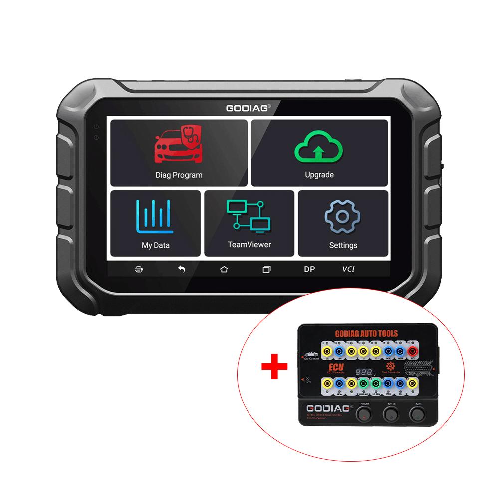 GODIAG GD801 Key Programmer Multi-language Support Mileage Correction ABS EPB TPMS EEPROM etc Get Free Gift Godiag GT100