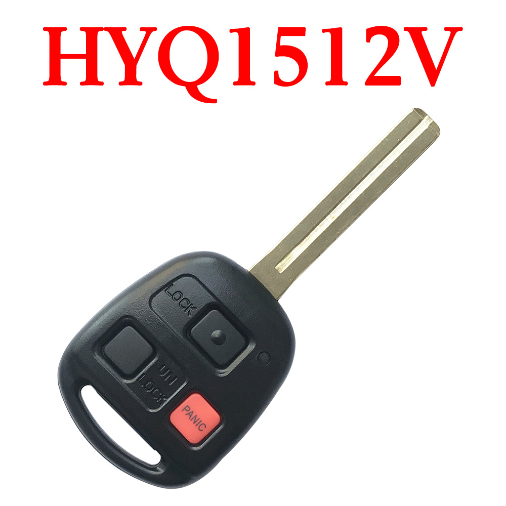3 Buttons 315 MHz Remote Head Key for Lexus - HYQ1512V (4C Chip)
