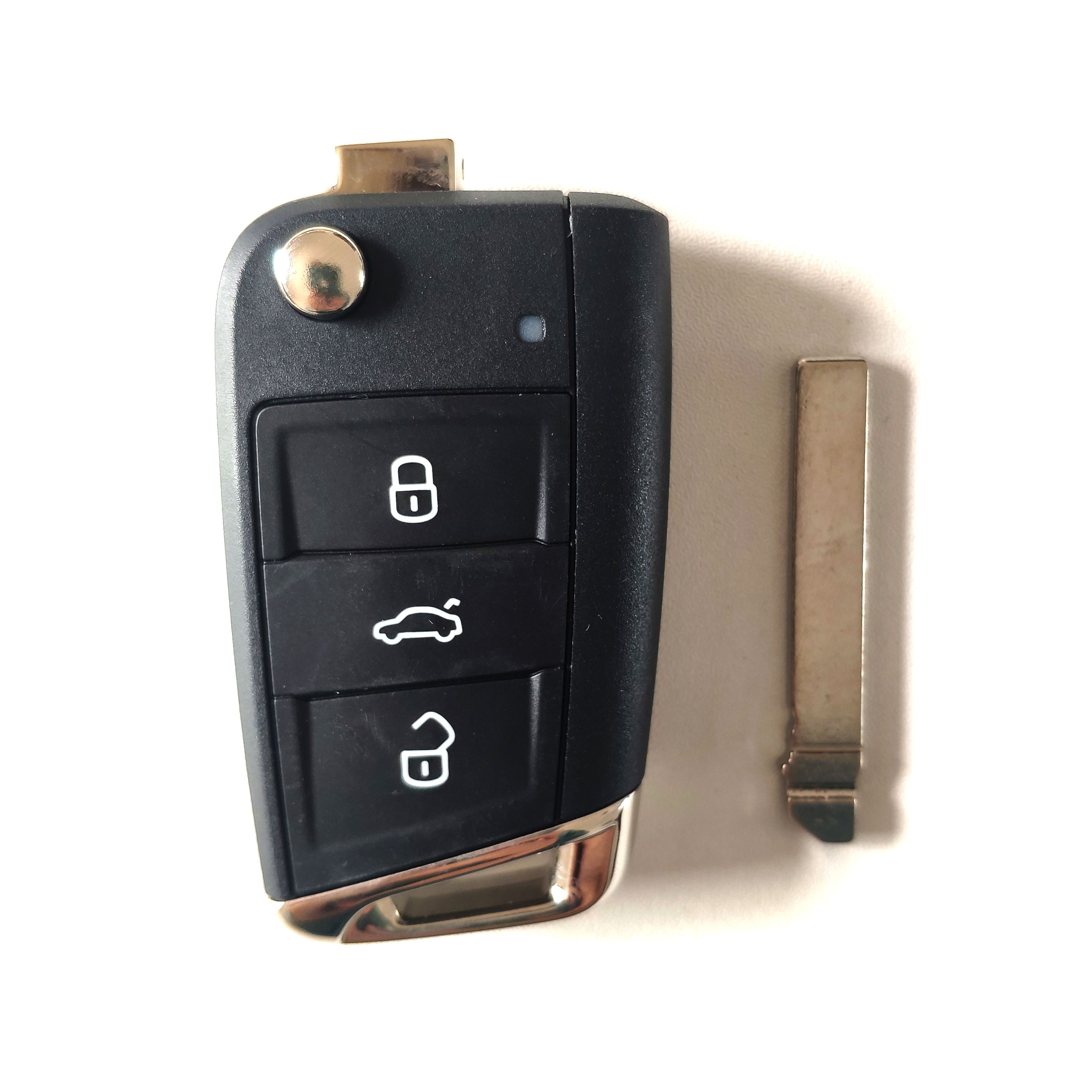 Original 3 Buttons 434MHZ Flip Proximity Key for New type VW Jetta 5CG 959 752 E